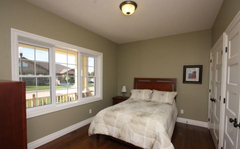 The Meadow Lark Master Bedroom, Durand Construction