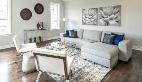 staged living room in stoney creek