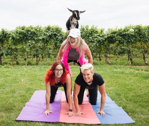 Goat Yoga Bachelorette Party