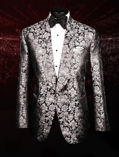 Bruce Buffer UFC 254 Raw Silk Jacquard Smoking Jacket