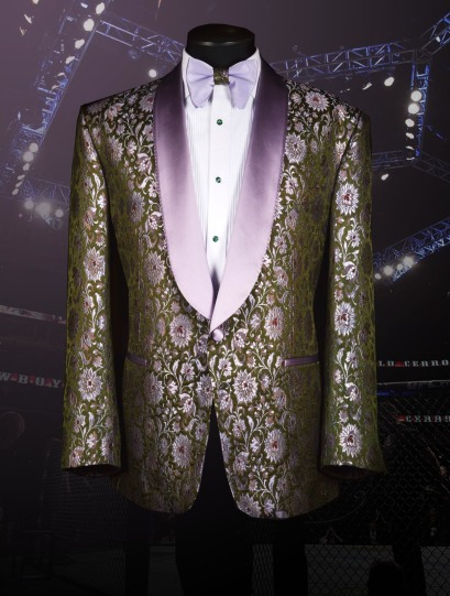Bruce Buffer UFC 246 Raw Silk Jacquard Smoking Jacket