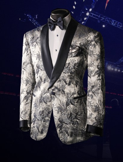 Bruce Buffer UFC 252 Raw Silk Jacquard Smoking Jacket