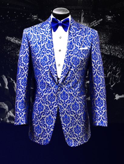 Bruce Buffer UFC 217 Raw Silk Jacquard Smoking Jacket