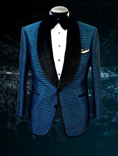 Bruce Buffer UFC 209 Raw Silk Jacquard Smoking Jacket