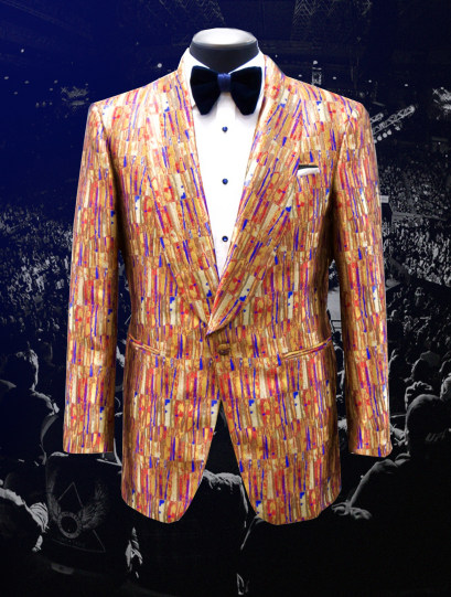 Bruce Buffer UFC 245 Raw Silk Jacquard Smoking Jacket