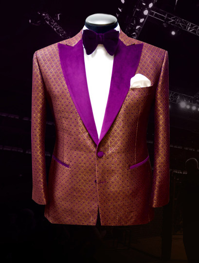 Bruce Buffer UFC 207 Raw Silk Jacquard Smoking Jacket