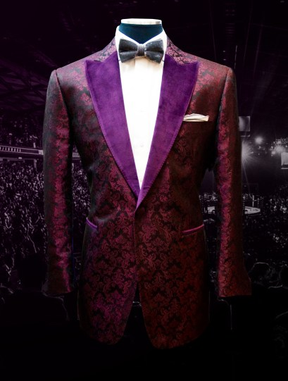 Bruce Buffer UFC 202 Raw Silk Jacquard Smoking Jacket